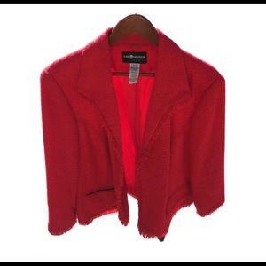 SAG HARBOR Women's Frayed boucle' jacket